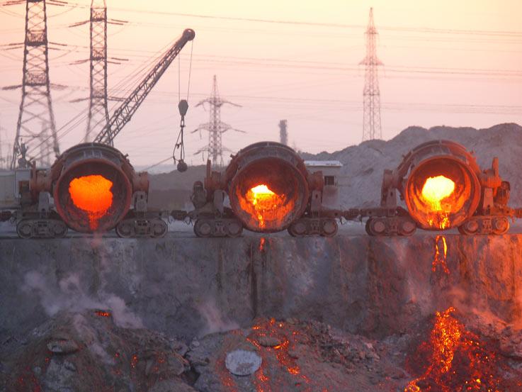 Шлаковые отвалы в производстве щебня и наполнителя грунта